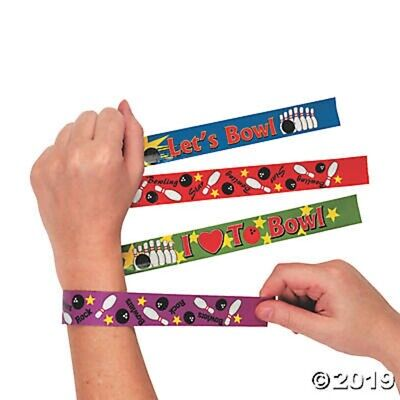 Bowling Party Favors (12 Bowling Ball Slap Bracelets Birthday Party Favors Gifts Stocking)