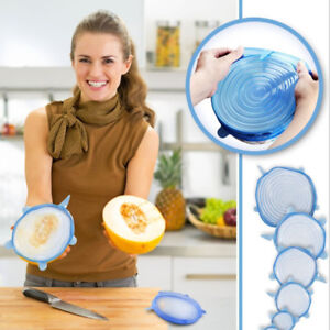 6pcs/set Silicone Lid Spill Stopper Cover Kitchen Tool