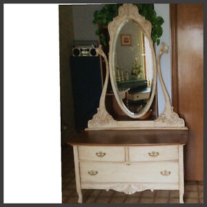Antique lowboy dresser