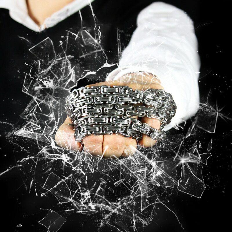 Titanium Steel Martial Arts Bracelet, Outdoor Kung Fu EDC Multi-functional Chain
