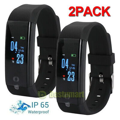 2Smart Watch Fitness Tracker Fitbit Bluetooth Step Caolorie Sport Android iPhone
