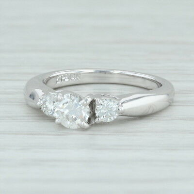 .52ctw Diamond 3-Stone Engagement Ring - 14k White Gold Size 4.5 Women