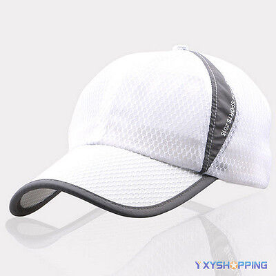 Weiß Mesh Cap (Weiß Herren Damen Basecap Trucker Golf Kappen Mesh Baseball Mütze Sports Hut Cap)