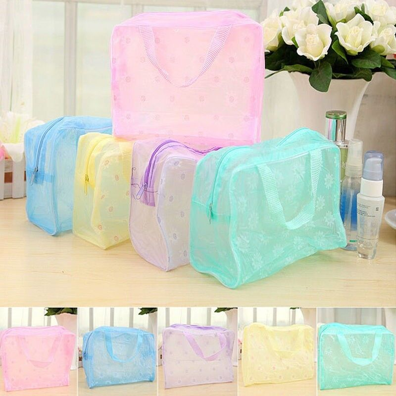 Clear Transparent Plastic PVC Travel Makeup Bag Cosmetic Toi
