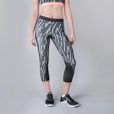 05ba0209eea7f Women's Nike Hypercool Skew Tight Running Leggings Gym Size Small S Grey NEW