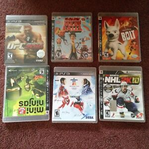 PS3 Games -$10.00 each