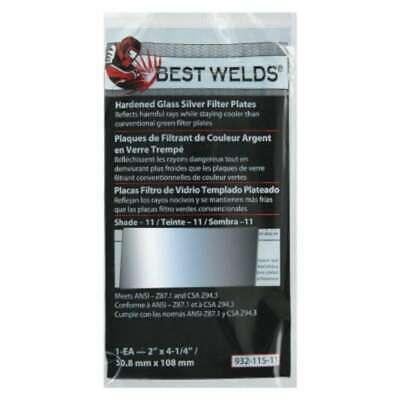 Best Welds Glass Silver Mirror Filter Plate 606230024351