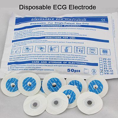 Us 50pcs Electrode Pads For Portable Handheld Easy Home Ecg Ekg Heart Monitor