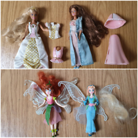 barbie princess dolls & disney fairy dolls £5 for all mini small size