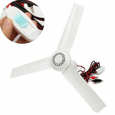 DC 12V Solar 3 Blade Ceiling Accessory Fan Powerful Caravan Outdoor Camping US