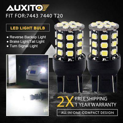 Xenon White 7443 Backup Reverse LED Stop Tail Break Light Bulbs 7440 7444 7441