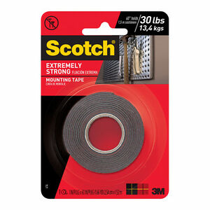 20 rolls of 3M Scotch Extreme double-sided mounting tape