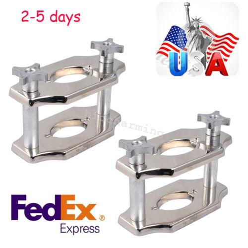 2pcs US Dental jig Reline Jig Single Compress Press plating Lab Equipment Chrome