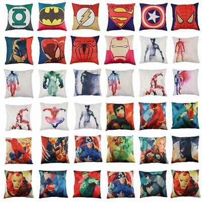 Retro Cute Cartoon Print Animal Super Hero Sofa Cushion Cover Pillow Case