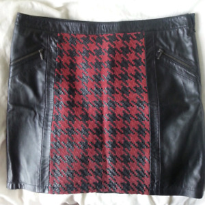 Daniel Hechter real leather skirts