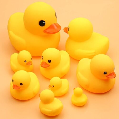 Yellow Squeaky Rubber Duck Baby Bath Toy Collection Float Water Pato PVC Plastic
