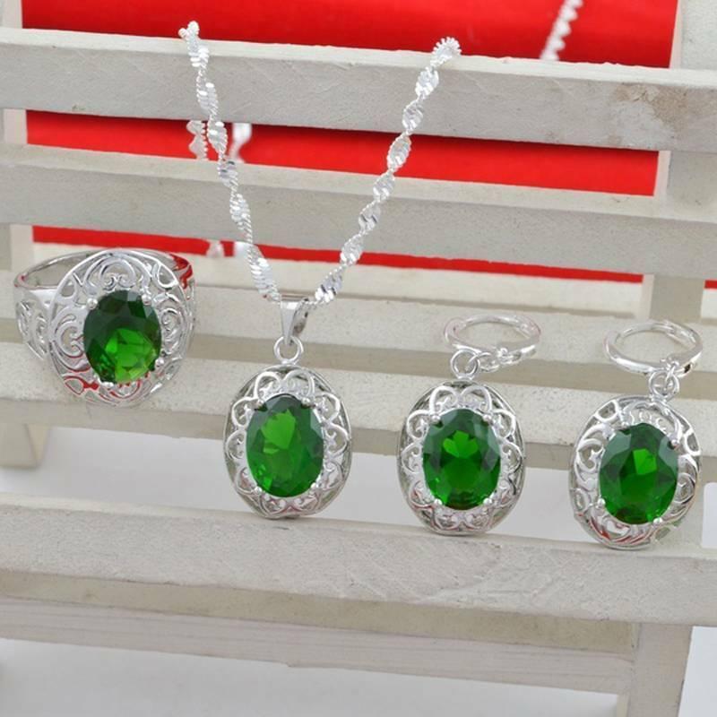 Women Silver Pendant Ring Wedding