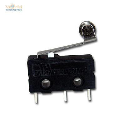 Näherungsschalter Microschalter / Taster, 250V/3A, mit Rollenhebel Schalter
