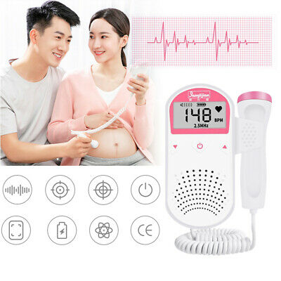 Pink Fetal Prenatal Baby Heart Rate Detector Household Beat Monitor Dc3v New