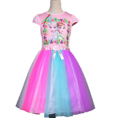 Christmas Gifts Childrens Girls Frozen Holiday Party Birthday Tutu Dress O137A - A Tutu Dress