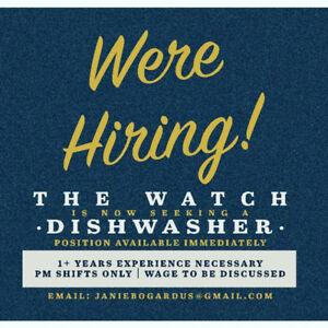 Hiring for a dishwasher (Dartmouth)