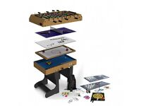 4ft 21-in-1 Folding Multi Games Table including table football, pool & air hockey