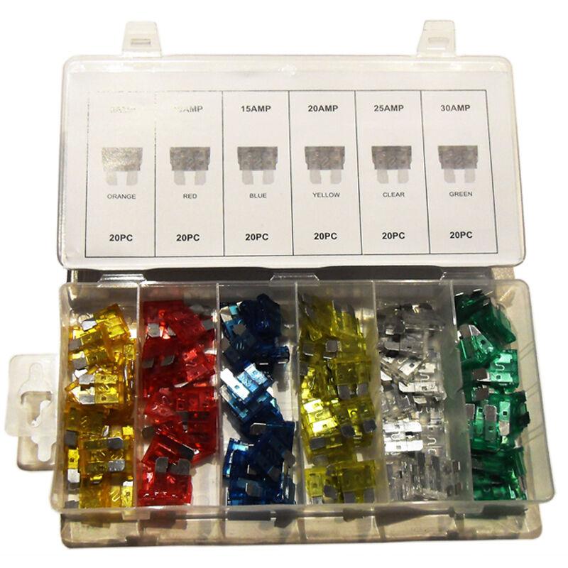 Car Parts - 240 PCS Standard + Mini Blade CAR FUSE ASSORTMENT 5 - 30 AMP Auto Parts Kit