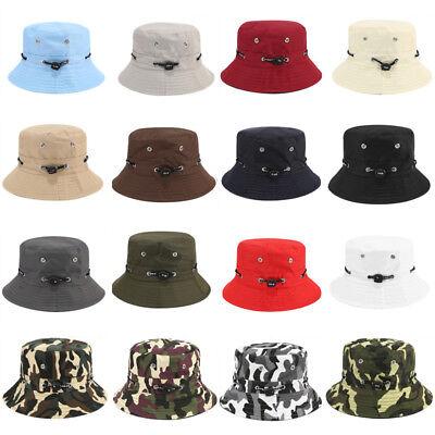 ecb5fc3c3 Details about Summer Men Women Bucket Hat Cap Casual Fishing Military  Hunting Safari Outdoor