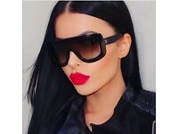 CELINE BLACK ADELE SKI MASK SUNGLASSES DESIGNER FLAT TOP - FREE TRACKED DELIVERY!