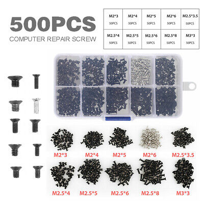 500pcs Laptop Notebook Computer Screw Kit Fit For Samsung IBM HP Dell Lenovo CAO (Laptop Screw Kit)