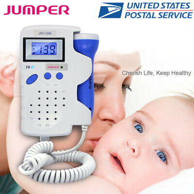 Jumper Fetal Doppler 2.5mhz Probe Ultrasonic Baby Heart Monitor Backlight Lcd