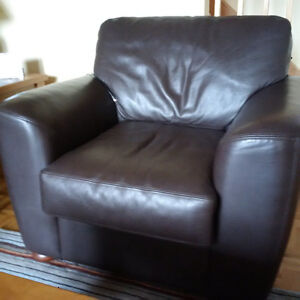 LeatherCraft arm chair in Rio Grande chocolate brown