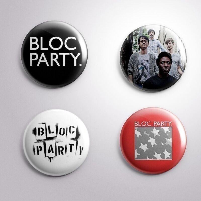4 BLOC PARTY -  Pinbacks Badge Button 25mm 1