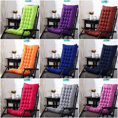 Hot Garden Rocking Deck Chair High Back Chair Outdoor Thick Sun Seat Pad -