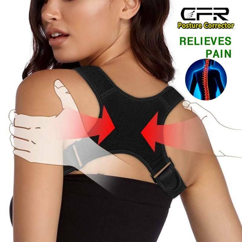 Posture Corrector Support Lumbar Back Shoulder Brace Belt fo