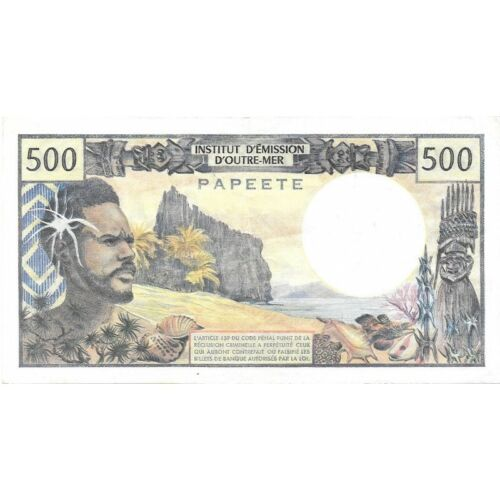 PAPEETE 500 Francs 1969 ND Pick # 25 - High Grade Circ Banknote! - d919qsc2