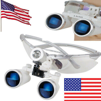Usa Dental Surgical Medical Binocular Loupes 3.5x 420mm Optical Glass Loupe