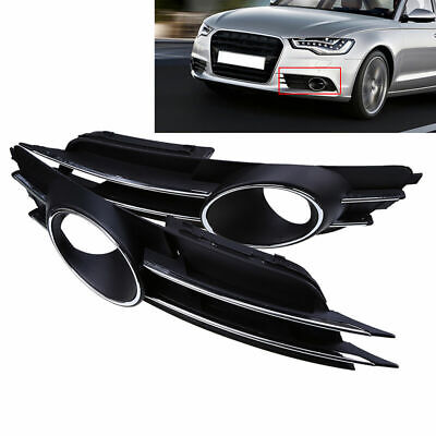 for Audi A6 C7 2011-2015 Front Lower Bumper Fog Light Grilles LEFT+ RIGHT NEW
