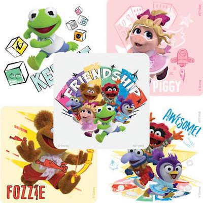 25 Muppet Babies Kermit Miss Piggy Fozzie  Stickers Party Favors Teacher Supply