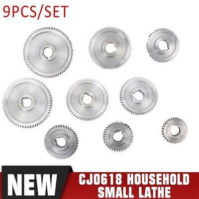 9pcs Cj0618 Household Small Lathe Micro Lathe Gear Metal Exchange Gea S8v2
