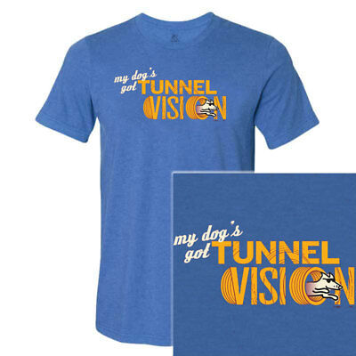 Teddy The Dog ~ Tunnel Vision ~ T-Shirt Tee Heather Blue XXXL 3XL NEW NWT