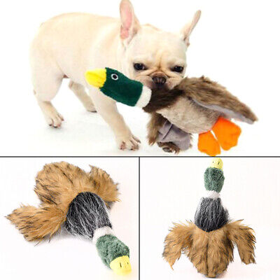 Dog Toy Plush Play  1 PC New Squeaky  Fashion Duck  Plush  Squeaker Chew - Dog Toy Duck
