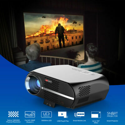 3200 Lumens 1080P Home Theater Projector HD TV PC DVD 3D 4K LCD LED Cinema HDMI