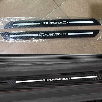 2PCS Chevrolet Protector Sill Scuff Panel Cover Door Plate Decal 3D Anti Scratch