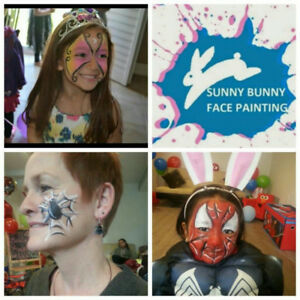 Face painter for birthday party and balloon twisting