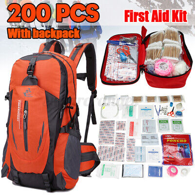 Best NEW 30L BACKPACK TACTICAL MEDICAL FIRST EMERGENCY AID KIT OUTDOOR SURVIVAL BAG