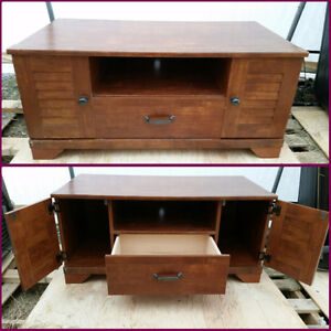 Solid Wood TV, Entertainment Stand & Storage