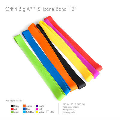 Grifiti Band Joes 12 Inch 10 Pack Tough Silicone Rubber Bands 12 Pack Rubber Bands