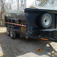 Dump Trailer and skid steer services