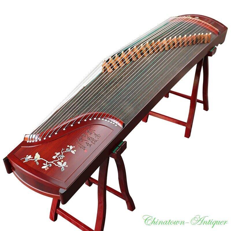 Chuanyue Guzheng 21-String Chinese Zither Harp Koto CY21-163 螺鈿工藝喜上眉梢古箏 #2965